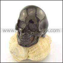 Black Plated Casting Skull Ring  r001213