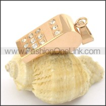Delicate Stainless Steel Plating Pendant   p001384