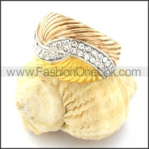 Stainless Steel Unique Design Ring r000765