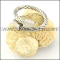 Stainless Steel Rope Ring in Silver Color r000561