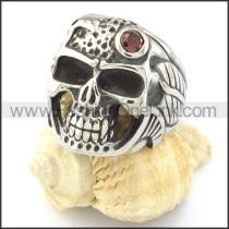 Stainless Steel Mens Skull Ringr000744