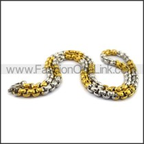 Silver and Gold Plated Necklace n001119