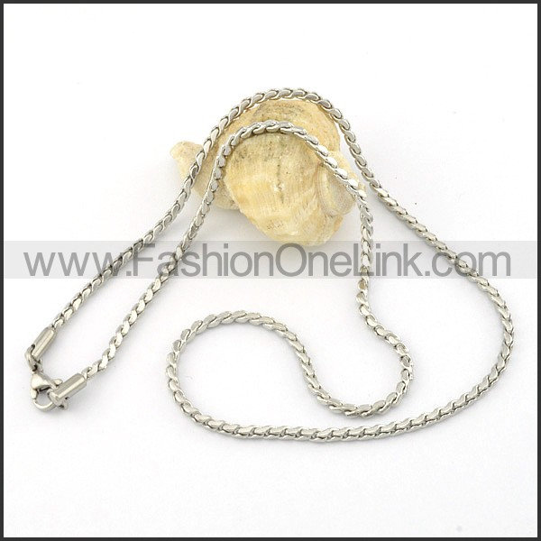 Succinct Stainless Steel  Small Chain    n000411