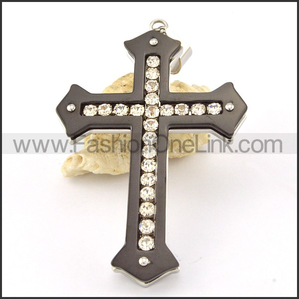 Delicate Stainless Steel Cross Pendant p000569