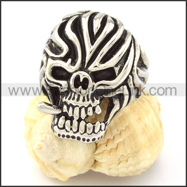 Stainless Steel Fashion Skull Ring r000677