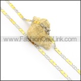 Golden and Silver Flat Hollowed-out Heart Plated Necklace n000896