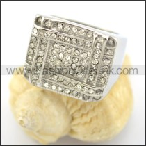 Exquisite Stone Stainless Steel Ring r001624