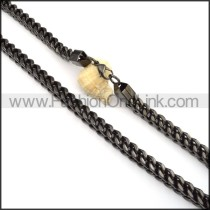 Exquisite Black Plated Necklace  n000087