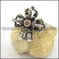Exquisite Cross  Stainless Steel Ring  r001683
