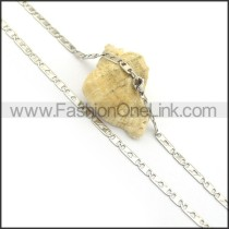 Silver Flat Chain Plated Necklace n000898