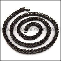 Exquisite Black Plated Necklace n001201