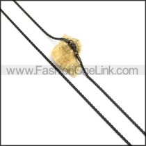 Black Plated Necklace n001054