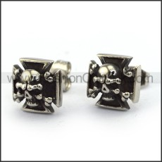 Square Skull  Earrings       e001218