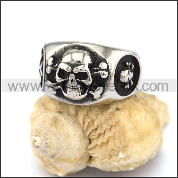 Stainless Steel Skull Ring  r002988