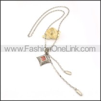Vintage Red Stone  Necklace    n000237