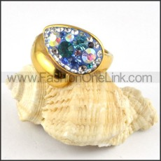 Stainless Steel Colorful Stone Design Ring r000245