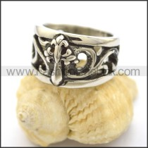 Delicate Stainless Steel Cross Ring  r001812
