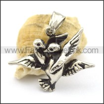 Vivid Stainless Steel Birds Pendant    p001799