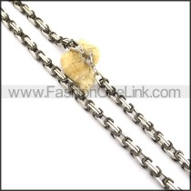 Delicate Black and Silver Plated Necklace n000815