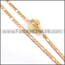 Succinct Rose Golden Plated Necklace n000564