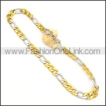 Two Tone Plated Necklace    n000137
