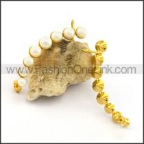Golden Fashion Pearl Earrings    e001098