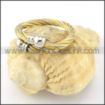 Stainless Steel Classic Rope Ring r000584