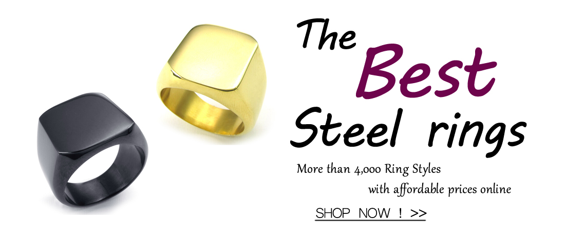latest stainless steel rings from zuobisi fashion brand