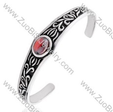 Shiny Stone Stainless Steel Bangles - JB350064