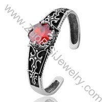 Crystal Stone Stainless Steel Bangles - JB350047