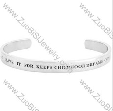 Wishing Stainless Steel Bangles - JB350056