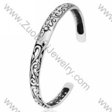unusual Stainless Steel Bangles - JB350034