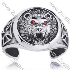 Large Tiger Stainless Steel Bangles - JB350045