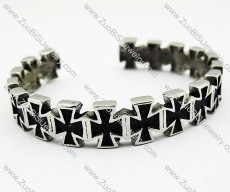 Stainless Steel Cross Bangle - JB170032