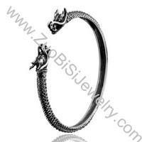 Antique Dragon Stainless Steel Bangles - JB350042
