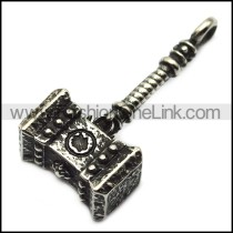vintage stainless steel casting hammer pendant p007289