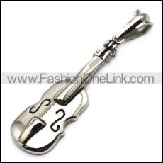 Cute Stainless Steel Violin Pendant p007175