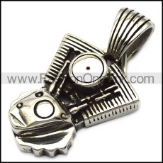 stainless steel engine pendant p007621