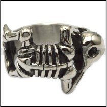Stainless Steel Skeleton Skull Ring r006233