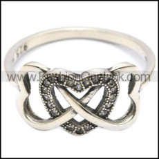 925 sterling silver heart ring for girls r006302