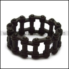 Black Bicycle Chain Ring in Stainless Steel r005234