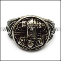 stainless steel casting thor hammer ring for viking r005242