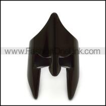 black spartan warrior helmet ring in stainless steel r005201