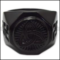 black stainless steel viking ring for wholesale r005965