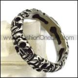 vintage skull ring for women r005607