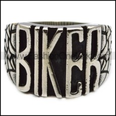 small stainless steel biker ring r005951