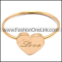 rose gold LOVE heart shaped ring for women r005838
