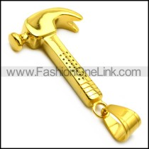 18K Gold Plating Hammer Penddant p006633