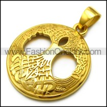 Golden Tree of Life Pendant p006640