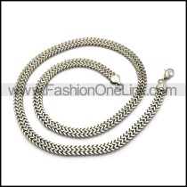 7.5mm Herringbone Mirror Finishing Chain Necklace n002061